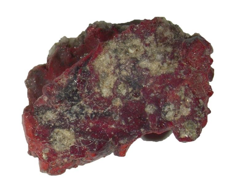 Uma amostra tripla vermelha contendo o semicristal