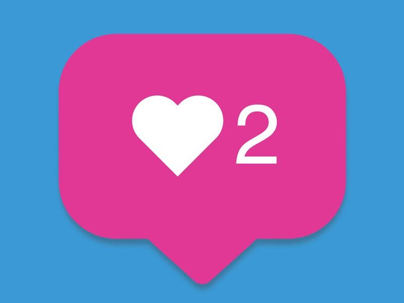 Counter, follower notification symbol instagram. Button for social media.
