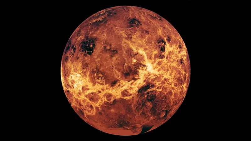 Venüs'ün küresel bir görünümü