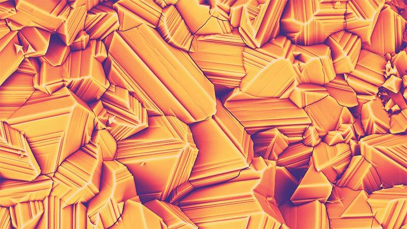 Nikel oksit mikro yapısının bir taramalı elektron mikroskobu görüntüsü