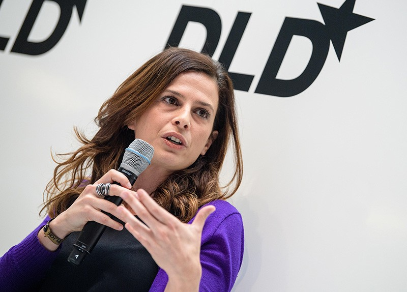 Francesca Bria speaking at a conference in Munich, Germany, in 2018