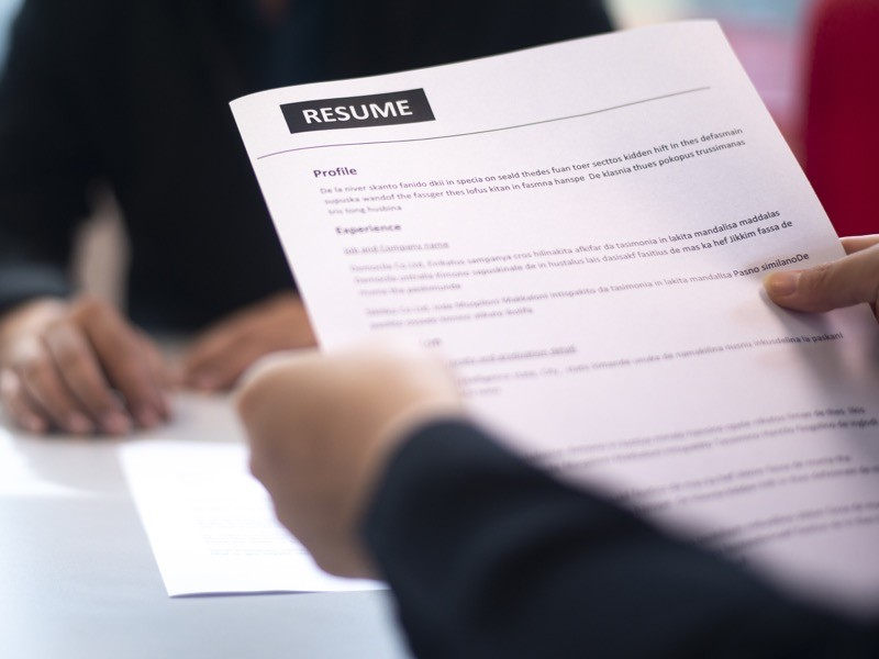 Recruitment, Job application, contract and business employment concept.