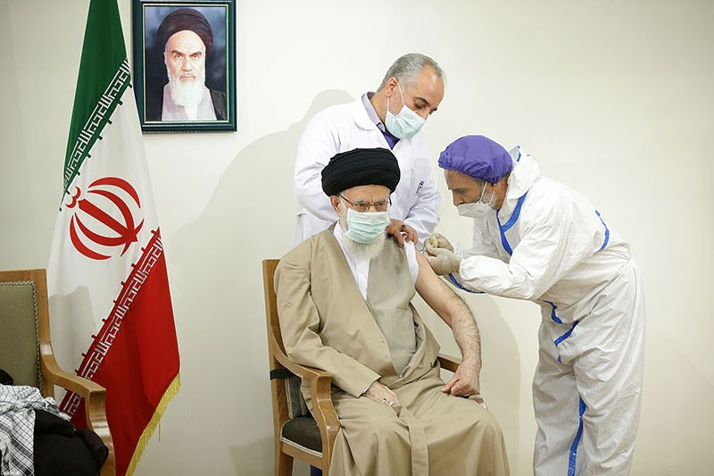 Top Iranian Leader Receives Locally Made COVID-19 Vaccine In Tehran, Iran