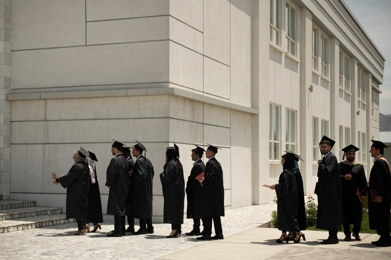 Graduating students at the American University in Afghanistan