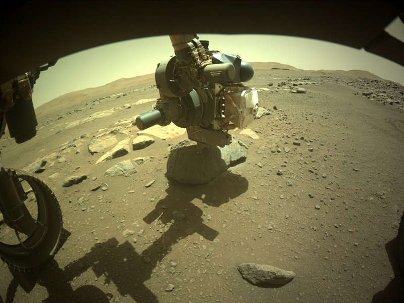 Mars rover finally collects its first rock core