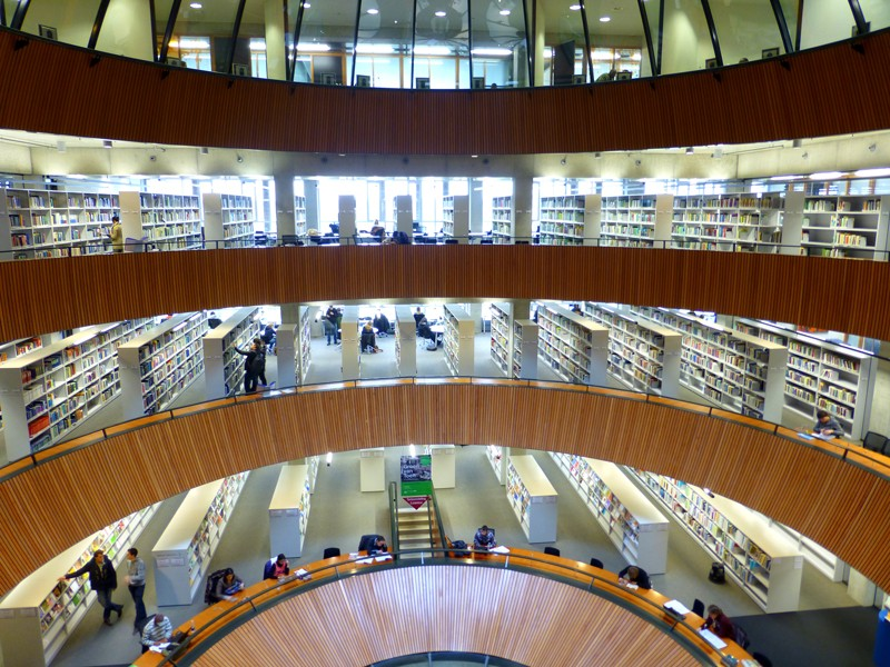 The library in Wageningen University and Research Centre