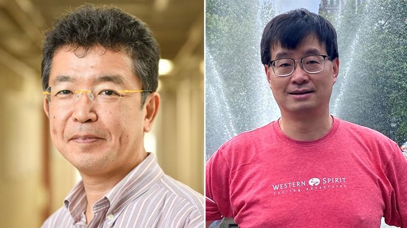 Diptyc of Hidetoshi Katori (L) and Jun Ye (R).