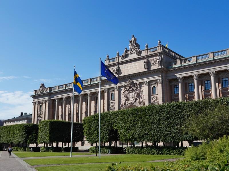 Sveriges Riksdag, Swedish parliament, building, Stockholm.