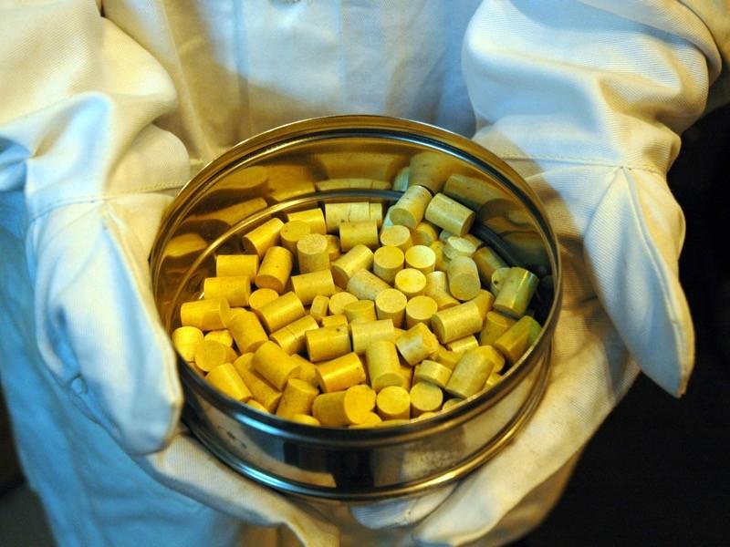 Thorium pellets, India.