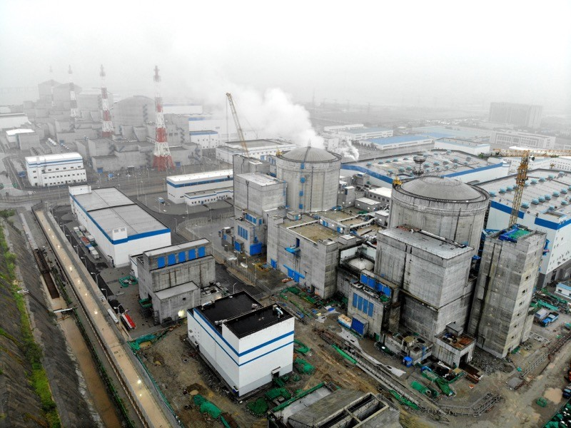 A panoramic view of phase I, II and III units of the Tianwan Nuclear Power Plant in China.