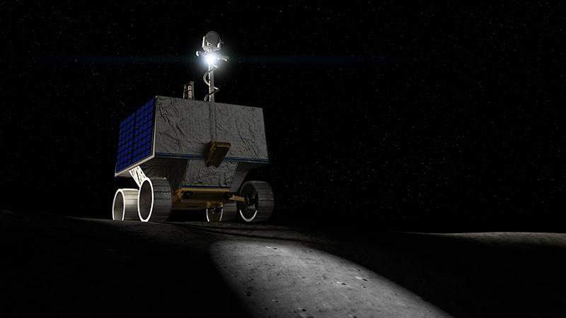 An artist's concept from NASA's Volatiles Investigating Polar Exploration Rover, or VIPER.