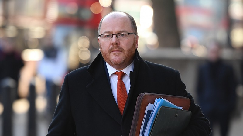 Conservative MP George Freeman arrives at the cabinet office in London.