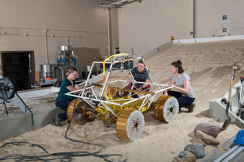 An engineering model of VIPER is tested at NASA's Glenn Research Center.