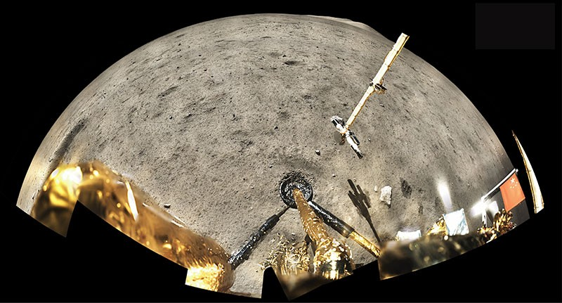 Composite image of the Chang'e 5 landing site captured from its onboard cameras.
