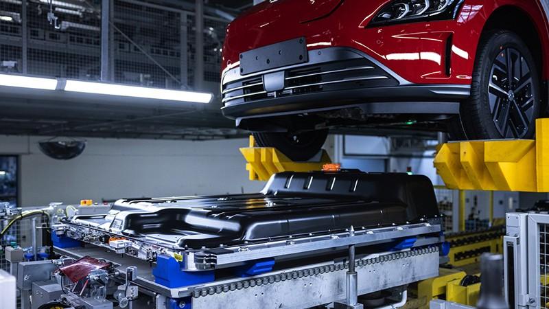 Línea de ensamblaje de SUV eléctricos Kona de Hyundai Motor Co.
