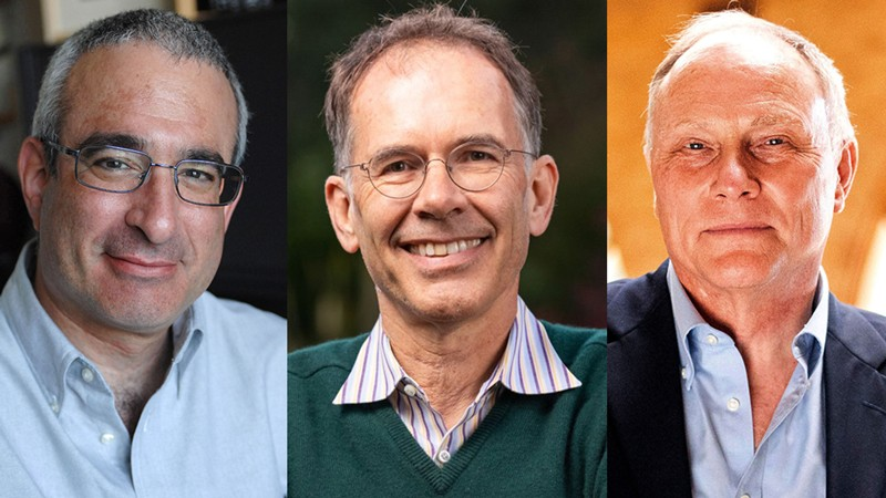 Winners of the 2021 Nobel Prize in economics. From left to Right: Joshua-D.-Angrist, Guido W. Imbens and David Card.