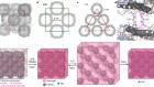 Hyperexpandable, self-healing macromolecular crystals with integrated polymer networks