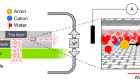 Molecular streaming and its voltage control in ångström-scale channels