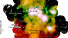 An X-ray chimney extending hundreds of parsecs above and below the Galactic Centre