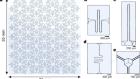 Hyperbolic lattices in circuit quantum electrodynamics