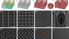 Electrochemically reconfigurable architected materials