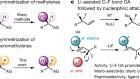 Desymmetrization of difluoromethylene groups by C–F bond activation