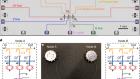 Deterministic multi-qubit entanglement in a quantum network