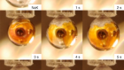 Spectroscopic evidence for a gold-coloured metallic water solution