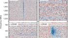 Chromatic periodic activity down to 120megahertz in a fast radio burst