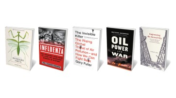 Big oil in the dock, the influenza trail, and insects as icons: Books in brief