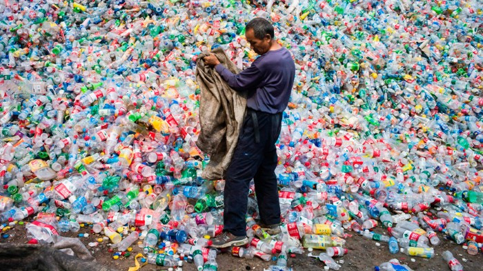Plastic items are much more likely to end up discarded than recycled.