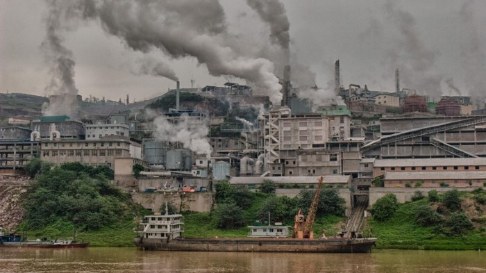 Coal-fired plants near Chongqin, China