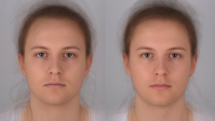 Averaged images of 16 sick (L) and healthy (R) individuals