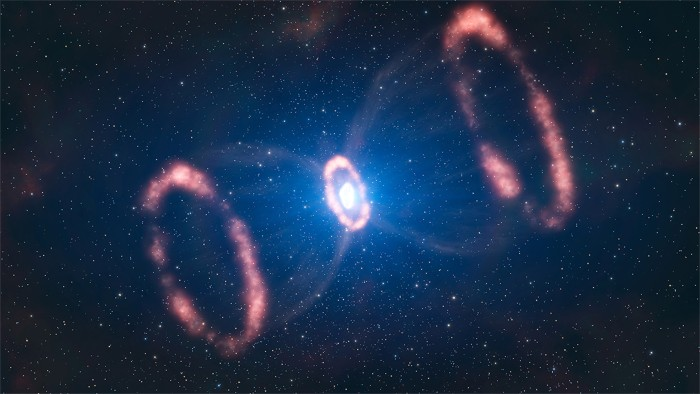 An artist's impression of supernova 1987A