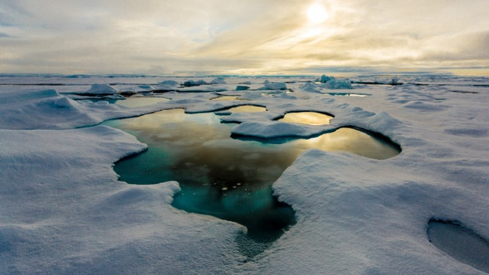 Melt pond on Arctic sea ice