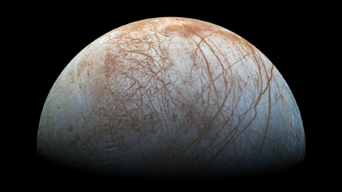 The surface of Jupiter's icy moon Europa
