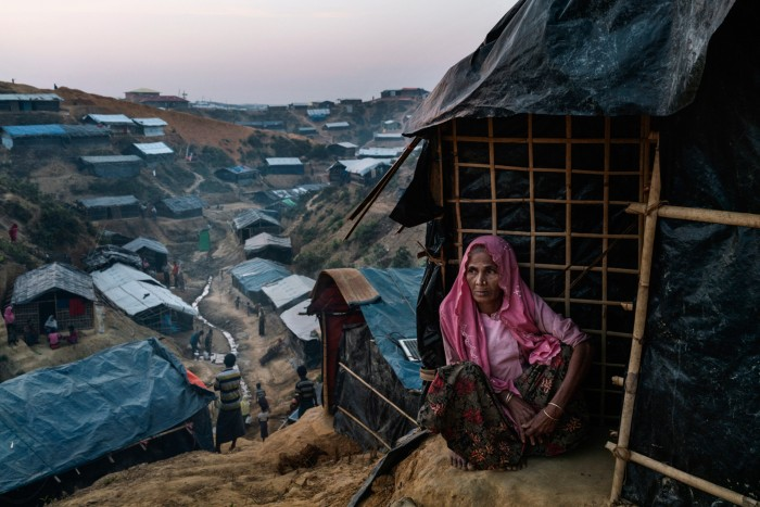 A Rohingya refugee at the Balukhali refugee camp in Bangladesh