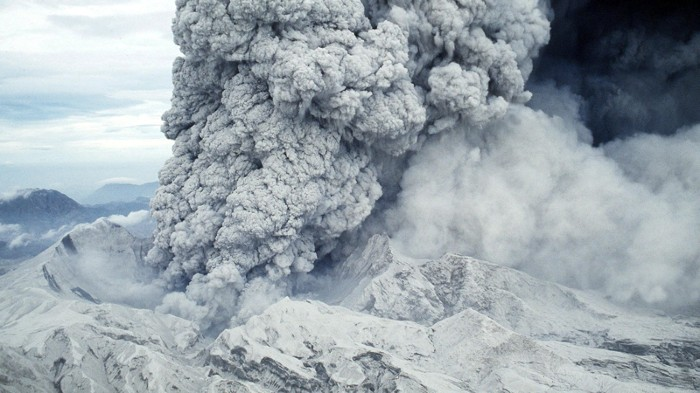 Mount Pinatubo Volcano erupting in 1991