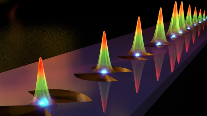 Tiny silicon bowtie structure claims record photon confinement in time and space.