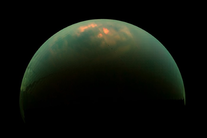 """Wet-sidewalk"" effect on Titan"