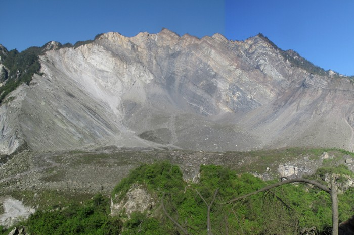Head scarp of Daguangbao landslide