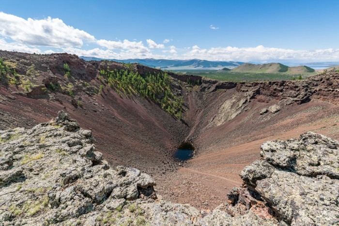 The Khorgo volcano crater in the Tariat district of Mongolia
