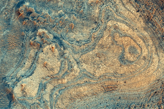 A Martian mineral deposit imaged from orbit