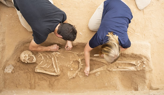 Excavation of the Philistine Cemetery at Ashkelon.