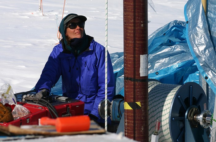 Ice core drilling on the Greenland Ice Sheet