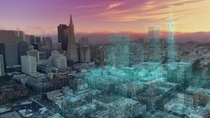 An illustration of a digital twin city