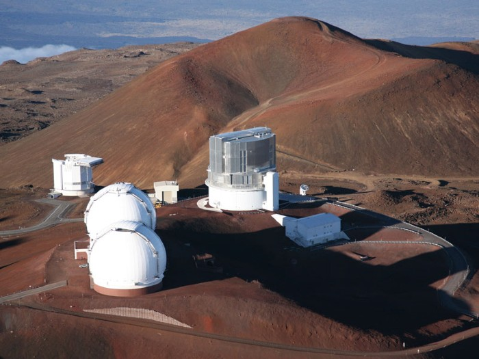 Domes on the summit of Mauna Kea.