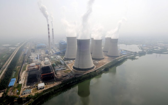 Coal-fired power plant in Huainan city, east China's Anhui province.