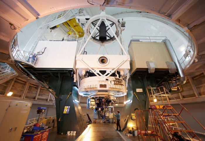 The William Herschel Telescope WHT, Roque de los Muchachos Observatory, La Palma, Canary Islands, Spain.