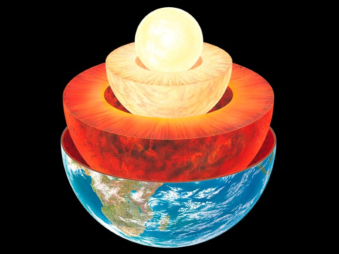 Caption Earth layers, computer artwork.
